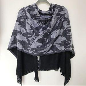 Lululemon Gray Wool Scarf Wrap